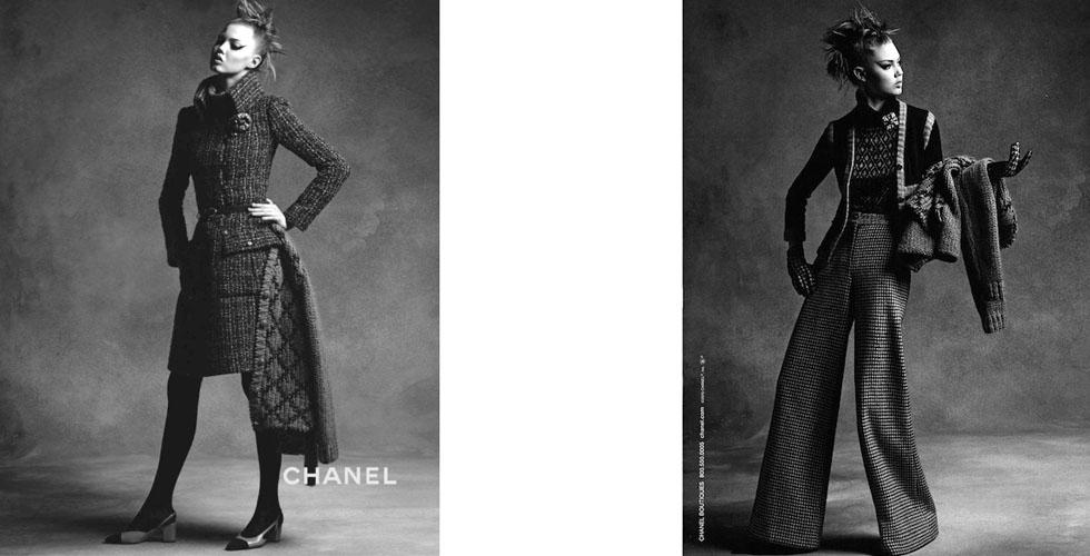 Шанел есен/зима 2015 с Ана Юърс и Линзи Уикстън
